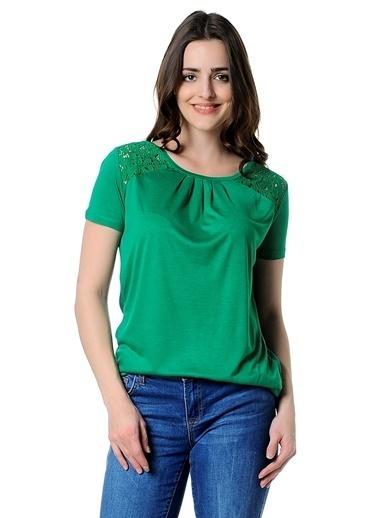 Fashion Friends Bluz Yeşil